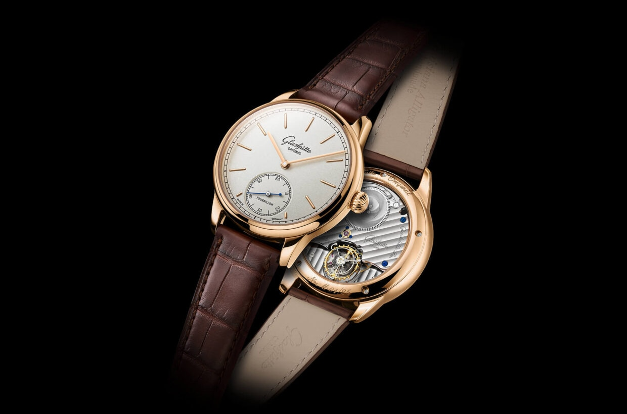 Pure understatement In accordance with historic precedents the Flying Tourbillon is positioned discreetly on the reverse of the movement, which features traditional finishings.