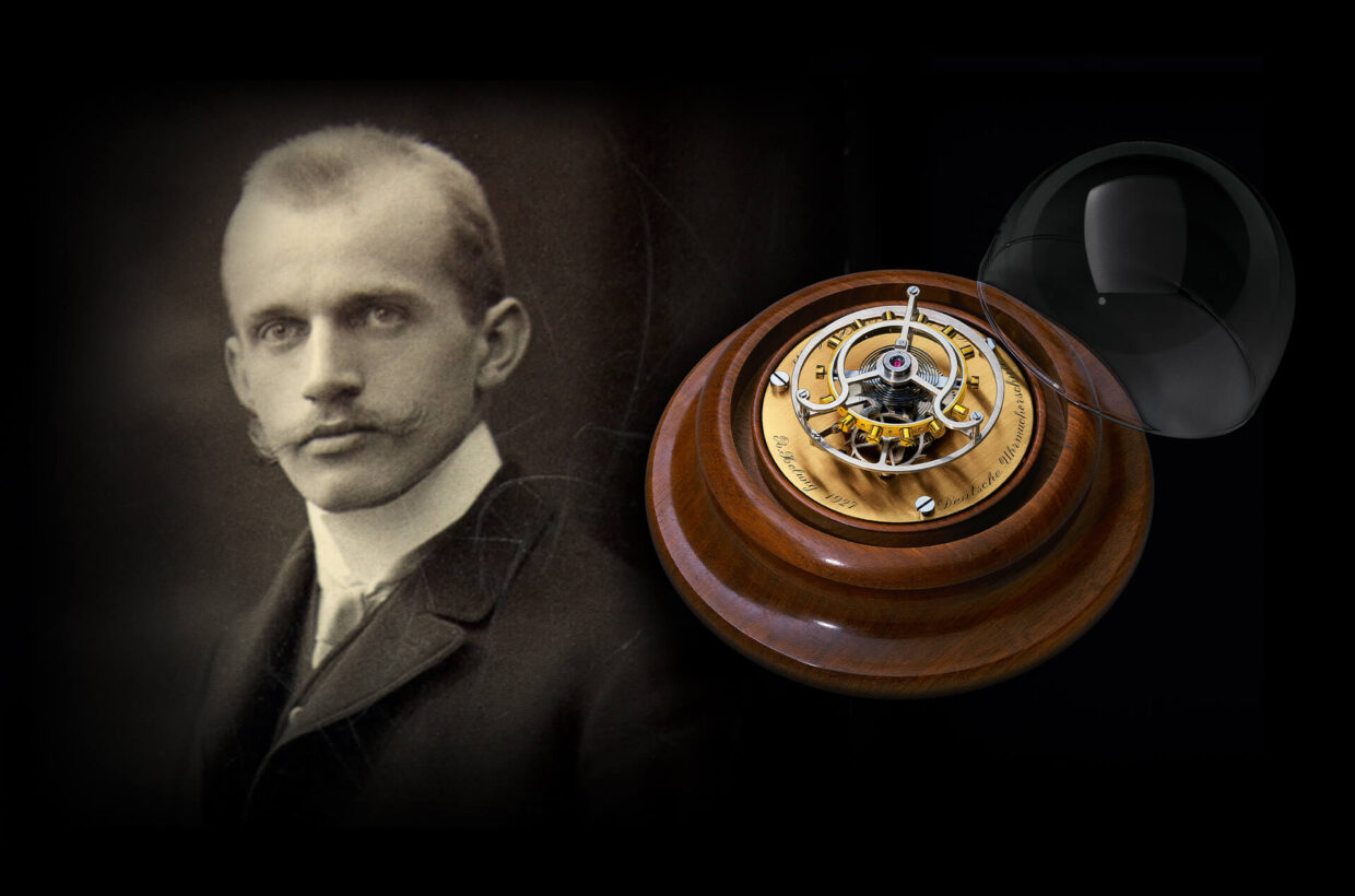 Icon of refined watch construction The Glashütte master watchmaker Alfred Helwig is still known today for his craft skills and his creativity. His ingenious invention from 1920, the Flying Tourbillon, is a symbol of his unrelenting efforts in pursuit of precision.