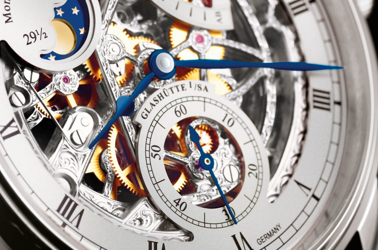 Fascinating inner life Connoisseurs of the German art of watchmaking are familiar with the profound and many-layered magic of a sophisticated timepiece. These skeletonised models put their fascinating inner life on display.
