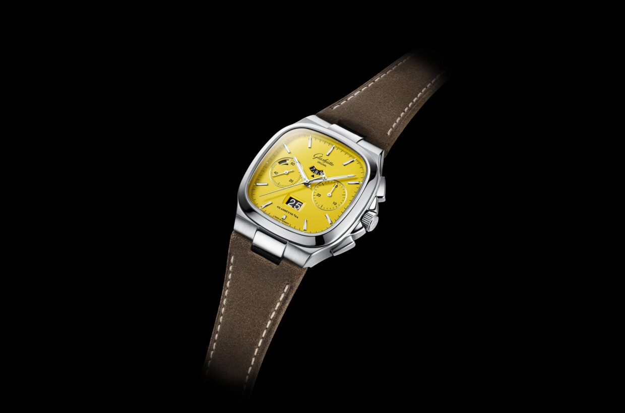 Distinctive and retro-modern With its distinctive case this chronograph captures the essence of the design icons of the 1970s: Dynamic lines and flowing curves lend it an authentic and retro-modern character.